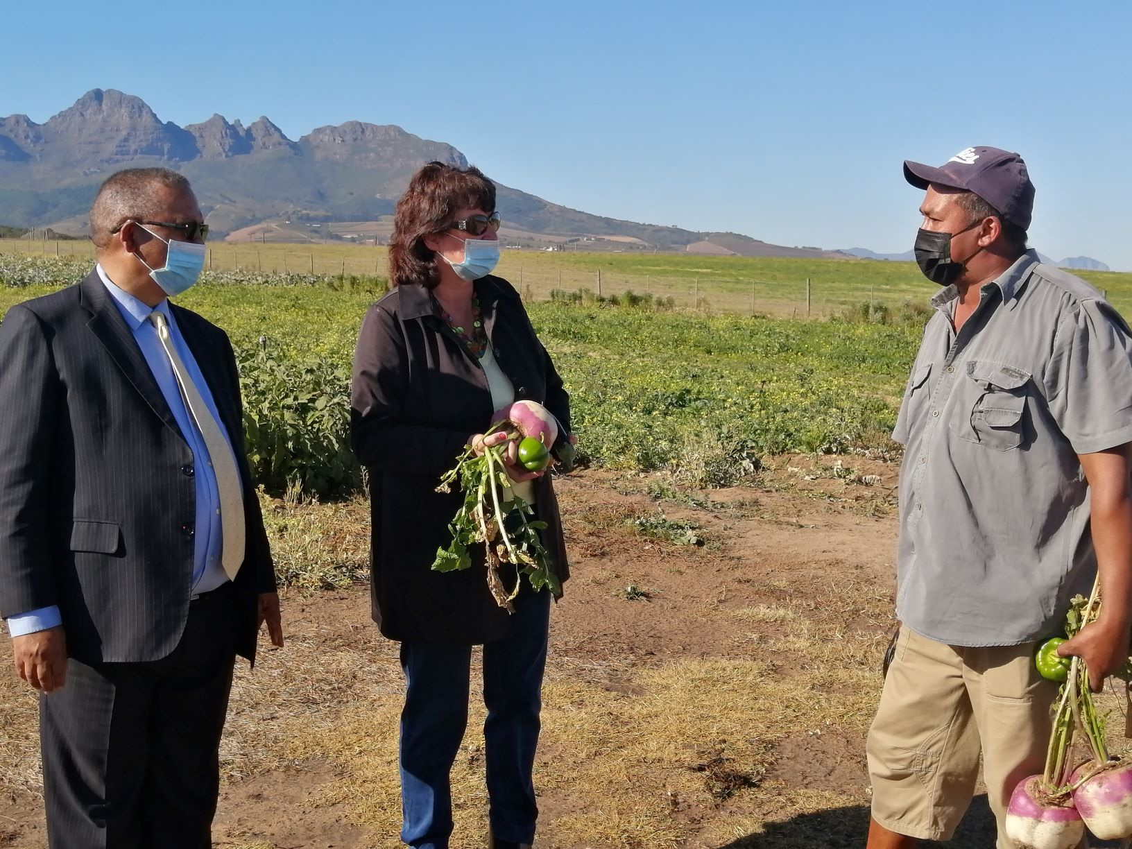 Western Cape Minister of Agriculture, Dr. Ivan Meyer visits successful local land reform projects